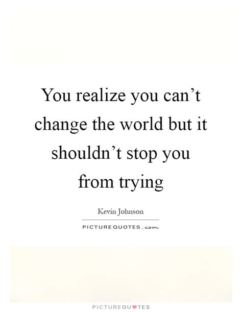 you can t i realized you realize you can t change the world but it shouldn t
