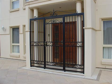 wrought iron security doors for adelaide