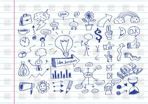 free doodle icons business doodle icons royalty free vector clip image