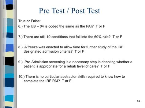 Mba Pre Test by Irf Pai