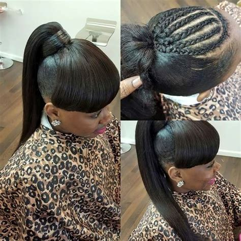 images of black braided bunstyle with bangs in back hairstyle 938 best cute styles bangs buns ponytails up do s images