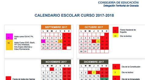 Calendario 2018 Granada Publicado El Calendario Escolar De Granada Para El Curso