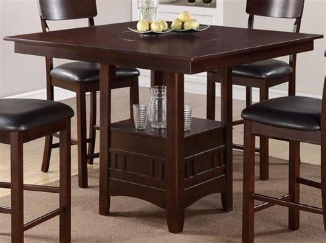 Poundex Furniture 5 Piece Counter Height Dining Table Kitchen Table With High Chairs