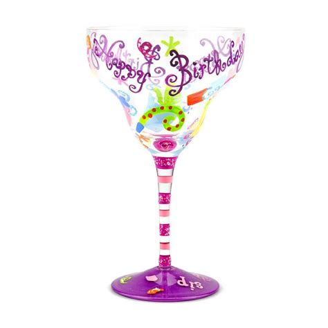 14 Oz Sip Sip Hooray Birthday Margarita Glass