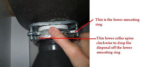 garbage disposal sink flange removal removal of the gd collar from the flange of a garbage disposal