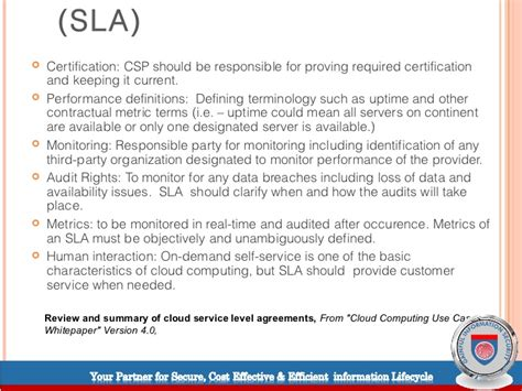 saas service level agreement template images templates