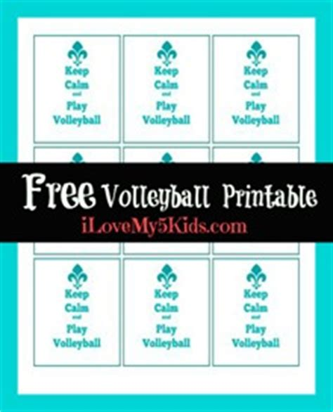 free printable volleyball tags keep calm and play volleyball free printable
