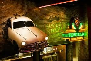 automotive wall murals thunder road steakhouse themed casino restaurant design