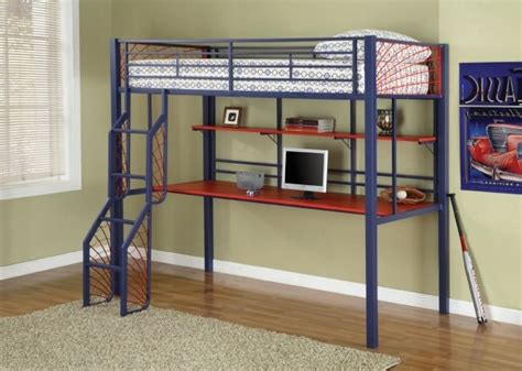 full size bunk beds with desk full size metal loft bed with desk bed headboards