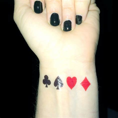 spade tattoo ace of spades wrist www pixshark images