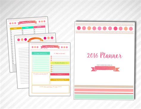 free printable planner cover 2016 5 best images of printable 2016 planner cover 2016