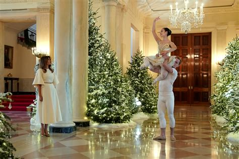 melania trump unveils white house christmas decorations time