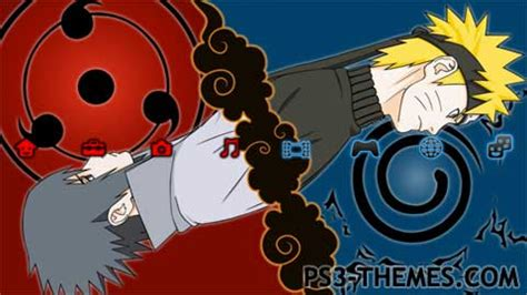 themes naruto hokage ps3 themes 187 naruto and sasuke 3