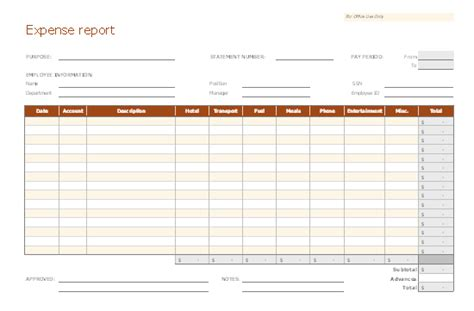 Weekly Expense Report For Excel Expense Report