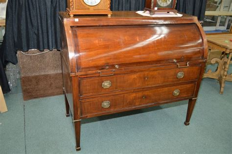 desk with pull out writing surface antique mahogany cylinder desk with pull out