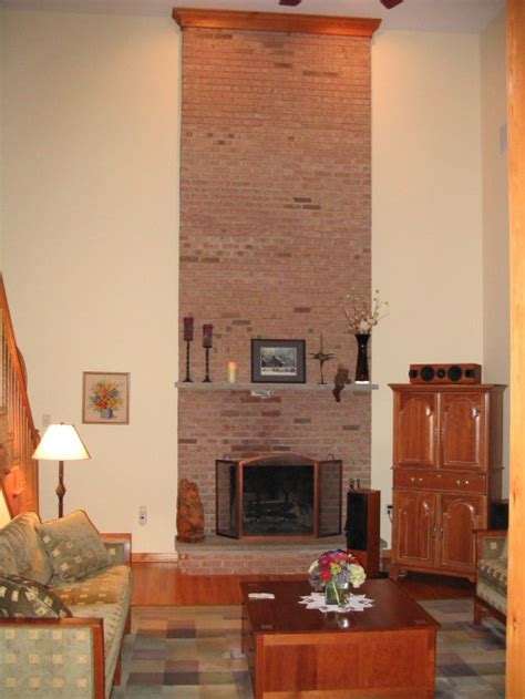 two story fireplace boring two story brick face fireplace
