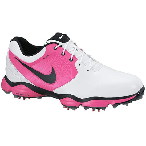 nike lunar ii golf shoes mens white black pink