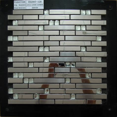 metal kitchen backsplash tiles stainless steel metal tile mosaic kitchen backsplash