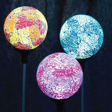 mosaic solar lights mosaic globe solar light orange buy at qd stores