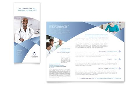 tri fold brochure template microsoft word nursing school hospital tri fold brochure template design