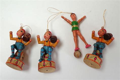 circus ornaments german painted wood ornaments circus theme v
