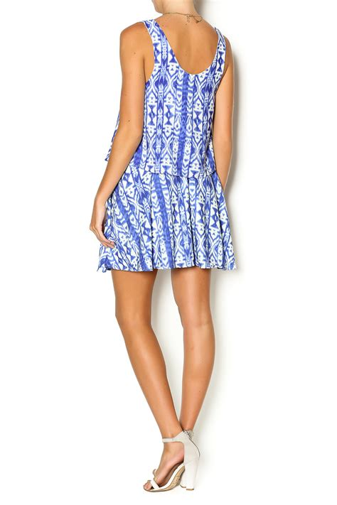 honey punch blue tribal dress from new jersey by runaway shoptiques