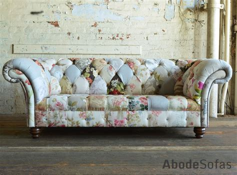 brighton patchwork chesterfield sofa floral chesterfield