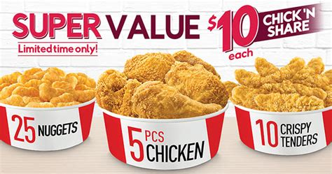 kfc new year promotion kfc s rooster year offers 10 value deals on 5pc