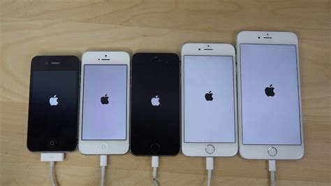 iphone 6 plus vs iphone 6 vs iphone 5s vs iphone 5 vs iphone 4s ios 8 2 beta 4 speed test