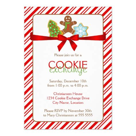 Cookie Exchange Party Invitation Zazzle Com Cookie Flyer Template Free