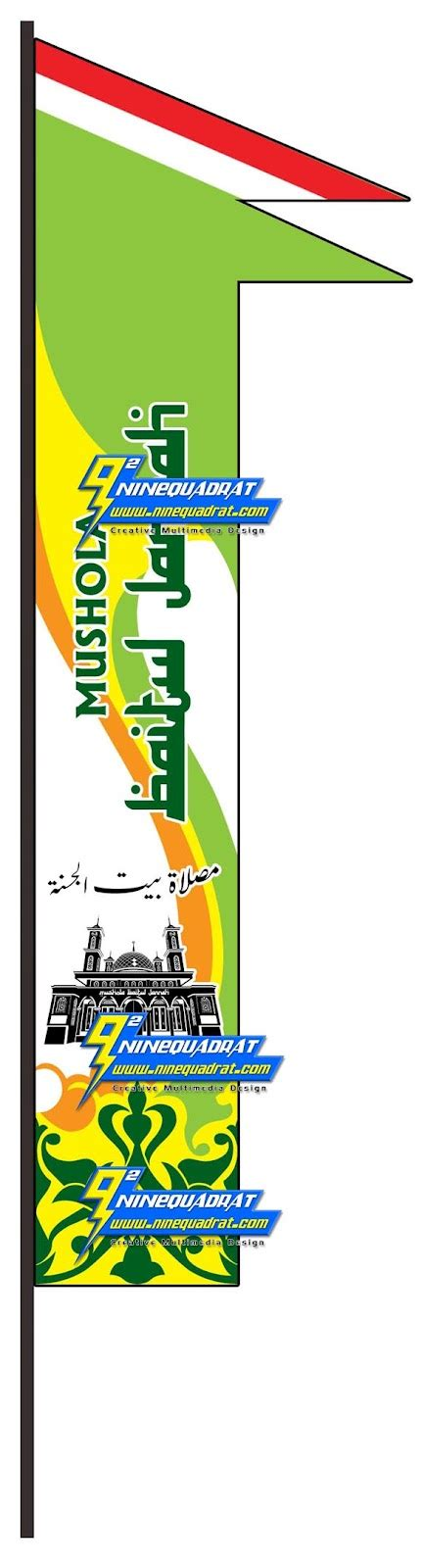 ninequadrat cetak umbul umbul spanduk bendera mushola
