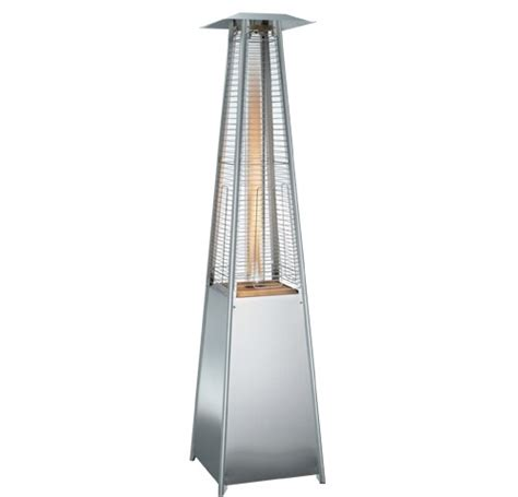 Stainless Steel Pyramid Flame Tower Heater Large Parasols Stainless Steel Pyramid Patio Heater