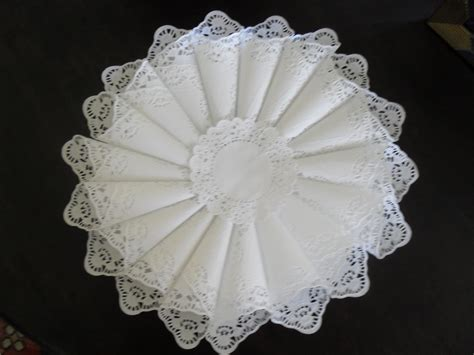 Doily Paper Craft - make a paper doily cone wreath 187 dollar store crafts