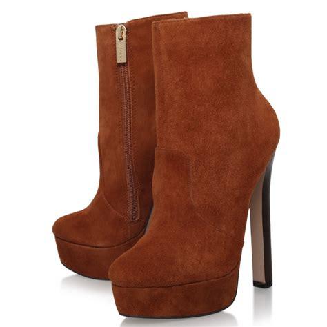 brown high heel ankle boots carvela kurt geiger sizzle high heel ankle boots in brown