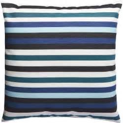 Dian Jacquard Blue Green Stripes Pillow