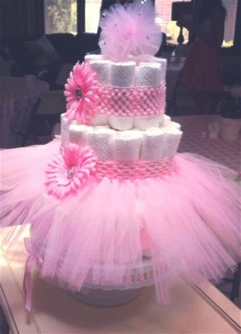 Cotton Tree Towel Animal Pink baby shower cakes tutu baby shower cake ideas