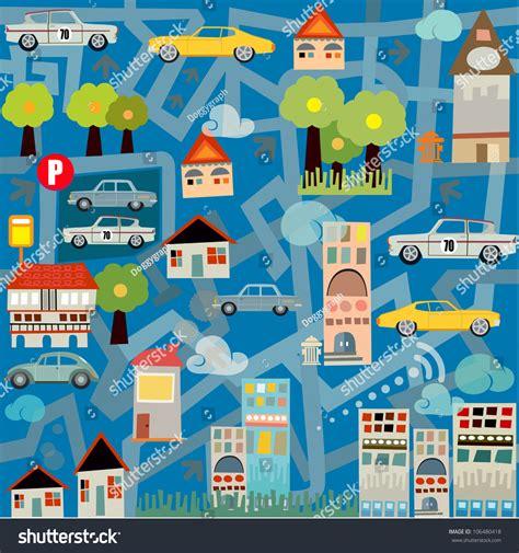 traffic pattern en espanol city maze traffic seamless pattern stock vector 106480418