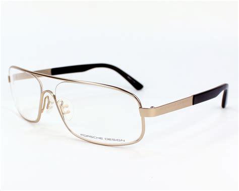 porsche design glass frame porsche design eyeglasses p 8225 c gold visio net com