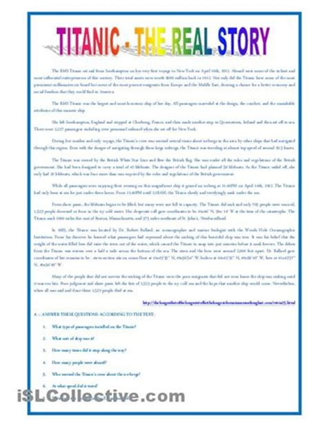 printable titanic quiz titanic activity worksheets titanic the real story