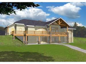 Hillside Walkout Basement House Plans Masonville Manor Mountain Home Plan 088d 0258 House