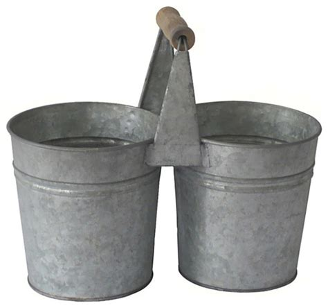 metal planters outdoor cheungs galvanized metal 2 pot planter outdoor pots and