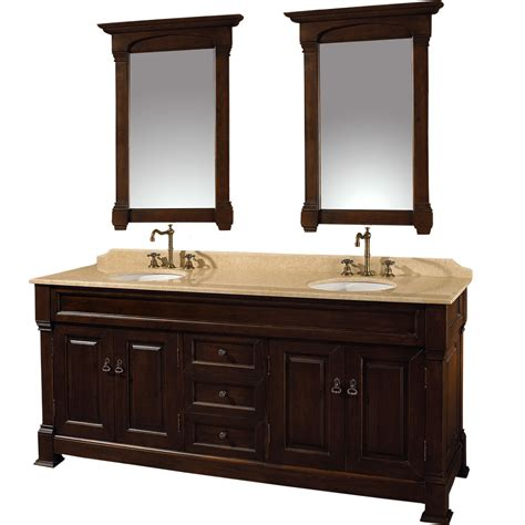 Bathroom Vanity Photos 72 Quot Andover 72 Cherry Bathroom Vanity Bathroom Vanities Bath Kitchen And Beyond