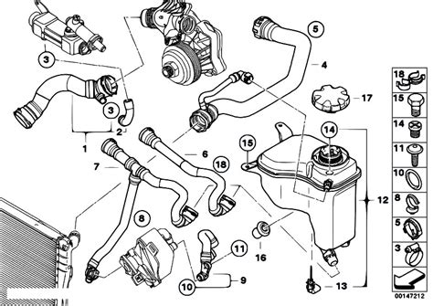 bmw e90 320d cooling system bmw e60 radiator diagram bmw auto parts catalog and diagram