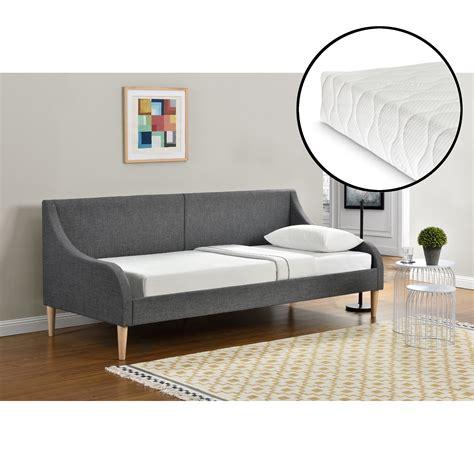 en casa 174 tagesbett mit matratze 90 x 200 cm schlafsofa - Bett Gepolstert