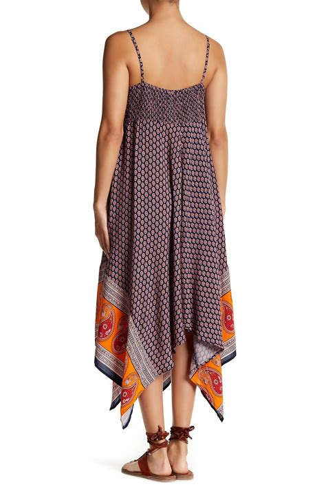 lyst lunch lounge nicollete handkerchief hem maxi dress