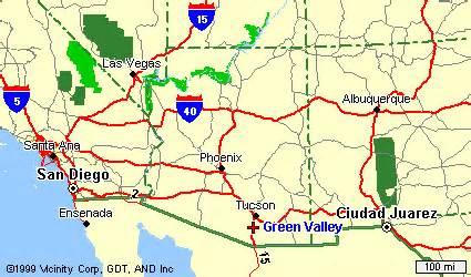 maps green valley arizona