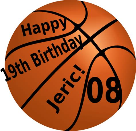 imagenes de happy birthday basketball happy birthday basketball clip art at clker com vector
