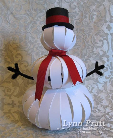 How To Make 3d Snowman Out Of Paper - st n design three pumpkin snowman