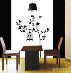 bird cage tree removable wall sticker home decor decal