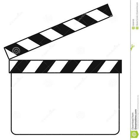 Blank Clapboard Illustration Stock Photos Image 33568193 Clapper Board Template Free